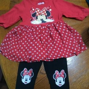 Size 3t Minnie Mouse outfit